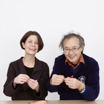 Norio Torimoto and Yukiko Duke, journalist, translator and expert on Japan.